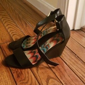 American Eagle Outfitters Shoes - American Eagle ankle strap wedge